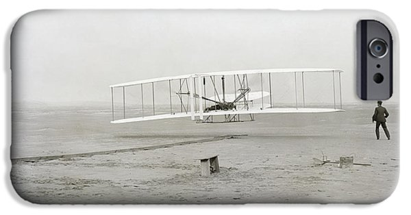 First Flight Captured On Glass Negative - 1903 IPhone Case by Daniel Hagerman