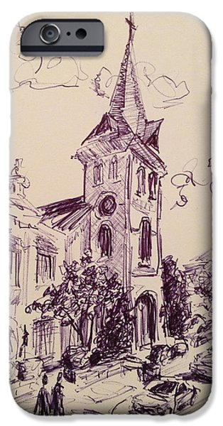 First United Methodist Church Huntsville Alabama IPhone Case by Carole Foret
