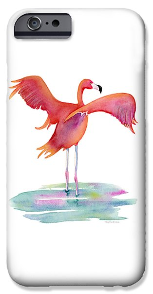 Flamingo Wings IPhone Case by Amy Kirkpatrick