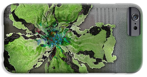Floralart - 0404 Green IPhone Case by Variance Collections