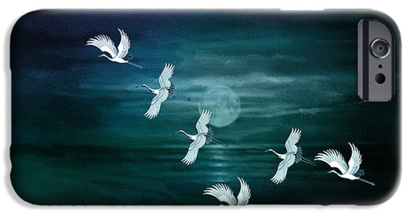 Flying By The Moon Bay IPhone Case by Bedros Awak
