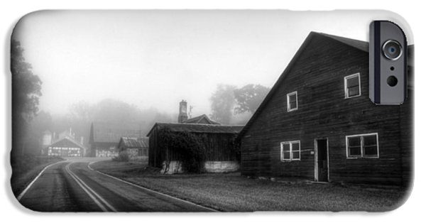 Foggy Morning In Brasstown Nc In Black And White IPhone Case by Greg and Chrystal Mimbs