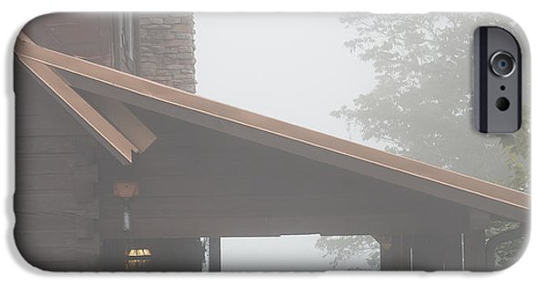 Foggy Morning Porch IPhone Case by Kay Pickens