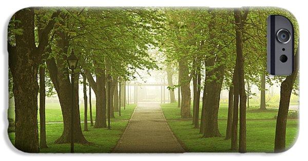 Foggy Spring Park IPhone Case by Elena Elisseeva