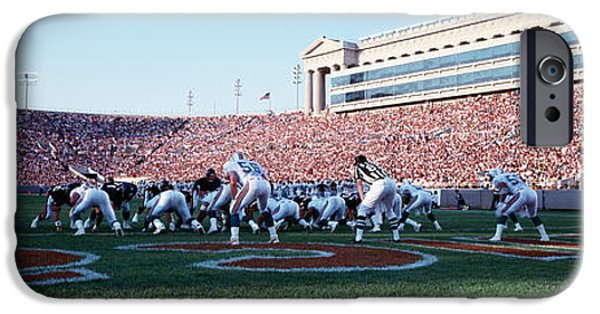 Football Game, Soldier Field, Chicago IPhone Case by Panoramic Images