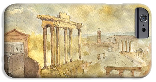 Forum Romano IPhone Case by Juan  Bosco