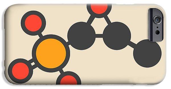 Fosfomycin Antibacterial Drug Molecule IPhone Case by Molekuul