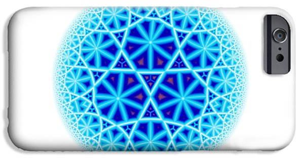 Fractal Escheresque Winter Mandala 4 IPhone Case by Hakon Soreide