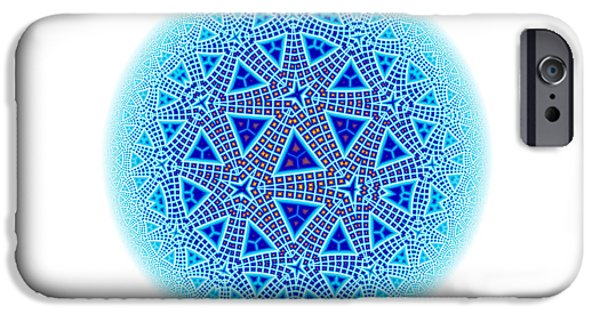 Fractal Escher Winter Mandala 5 IPhone Case by Hakon Soreide