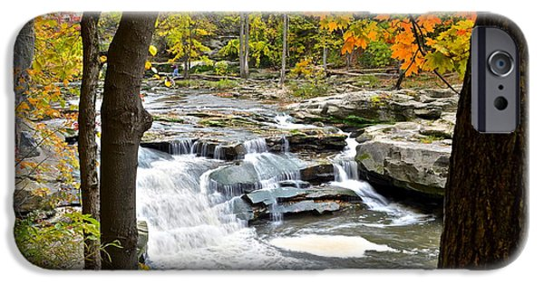 Framed Falls IPhone Case by Frozen in Time Fine Art Photography