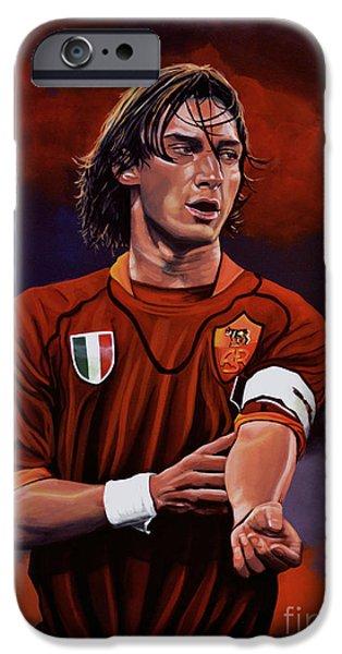 Francesco Totti IPhone Case by Paul Meijering