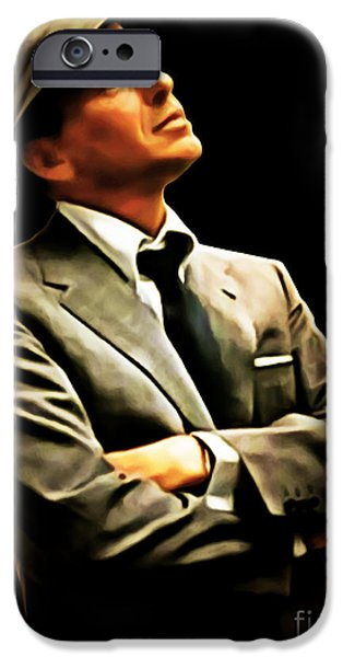Frank Sinatra 20150125brun IPhone Case by Wingsdomain Art and Photography