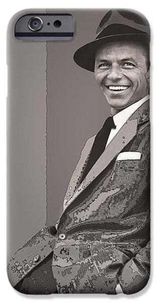 Frank Sinatra IPhone Case by Daniel Hagerman