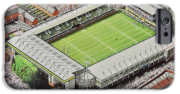 Franklin's Gardens - Northampton Saints Rugby IPhone Case by D J Rogers