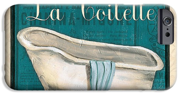 Faucet IPhone Case featuring the painting French Bath by Debbie DeWitt
