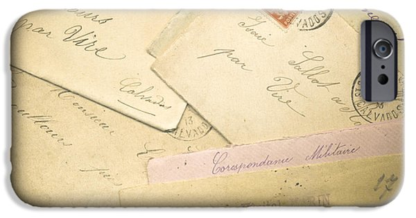 French Correspondence From Ww1 #2 IPhone Case by Jan Bickerton