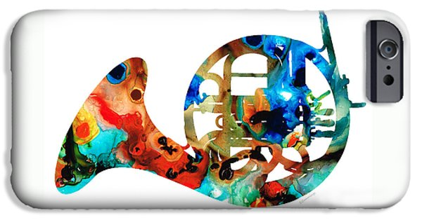 French Horn - Colorful Music By Sharon Cummings IPhone Case by Sharon Cummings