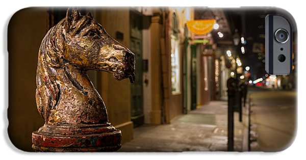 French Quarter Hitching Post IPhone Case by Tim Stanley
