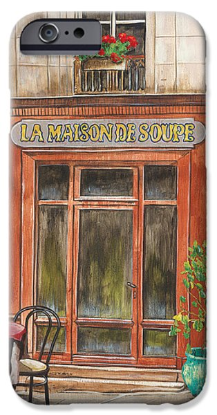 French Storefront 1 IPhone Case by Debbie DeWitt