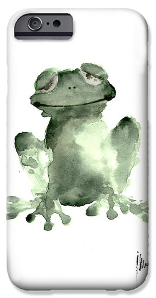 Frog Painting Watercolor Art Print Green Frog Large Poster IPhone 6s Case by Joanna Szmerdt