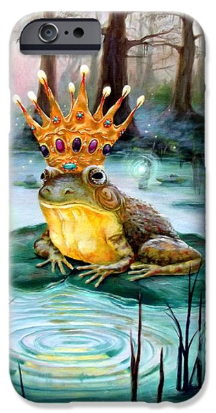 Frog Prince IPhone Case by Heather Calderon
