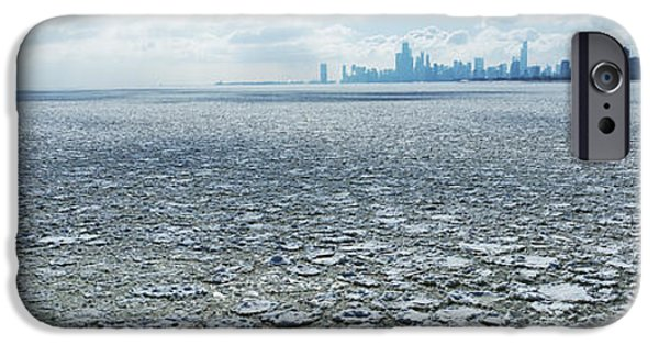 Frozen Lake With A City IPhone Case by Panoramic Images