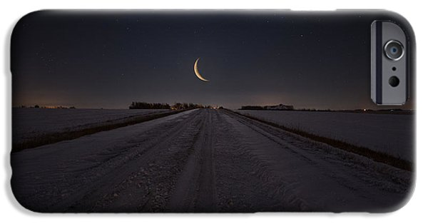Frozen Road To Nowhere IPhone Case by Aaron J Groen