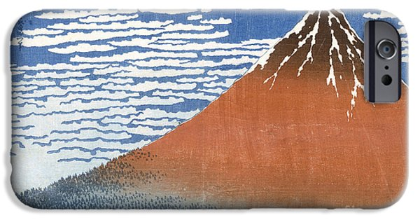 Fuji Mountains In Clear Weather IPhone Case by Hokusai