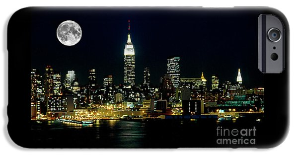 Full Moon Rising - New York City IPhone Case by Anthony Sacco