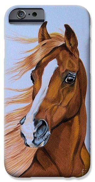 Fury - Hhh Horse Rescue Series 2 IPhone Case by Cheryl Poland