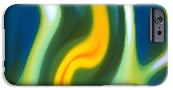 Abstracy Tide 8 IPhone Case by Amy Vangsgard