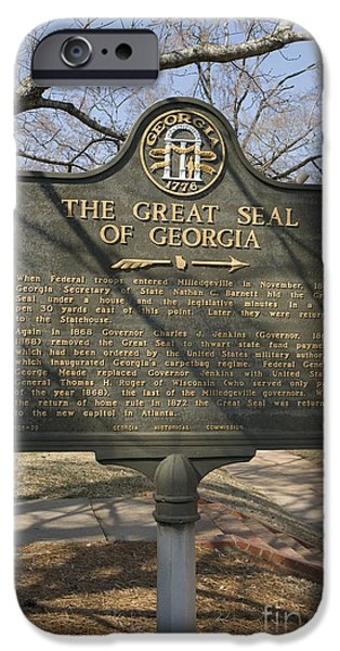 Ga-005-20 The Great Seal Of Georgia IPhone Case by Jason O Watson