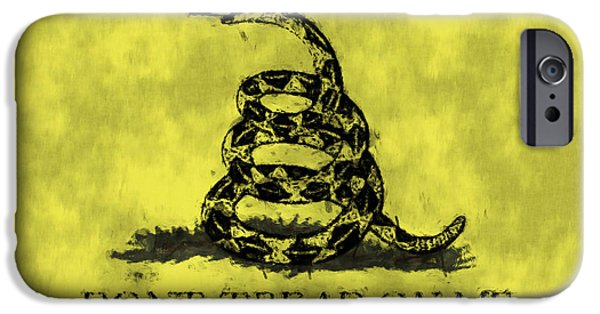 Gadsden Flag - Dont Tread On Me IPhone Case by World Art Prints And Designs