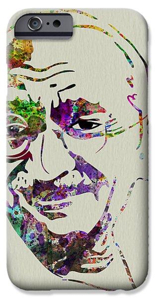 Gandhi Watercolor IPhone Case by Naxart Studio