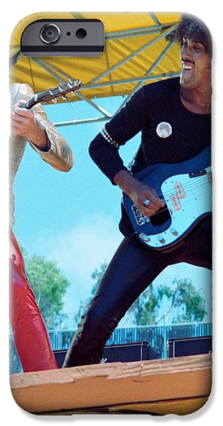 Gary Moore And Phil Lynott Of Thin Lizzy At Day On The Green 4th Of July 1979 - 1st Color Unreleased IPhone Case by Daniel Larsen