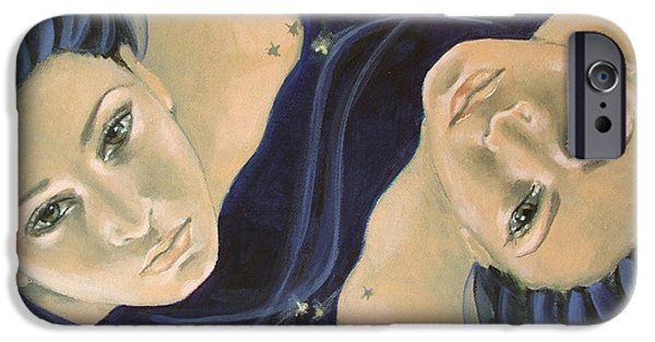 Gemini From Zodiac Series IPhone Case by Dorina  Costras