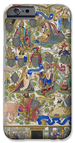 Genealogy Of Kings Of Navarre IPhone Case by British Library