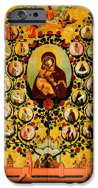 Genealogy Of The State Of Muscovy Panegyric To Our Lady Of Vladimir IPhone Case by MotionAge Designs