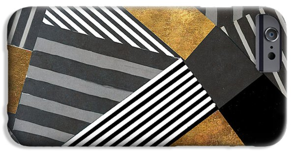 Geo Stripes In Gold And Black II IPhone 6s Case by Lanie Loreth