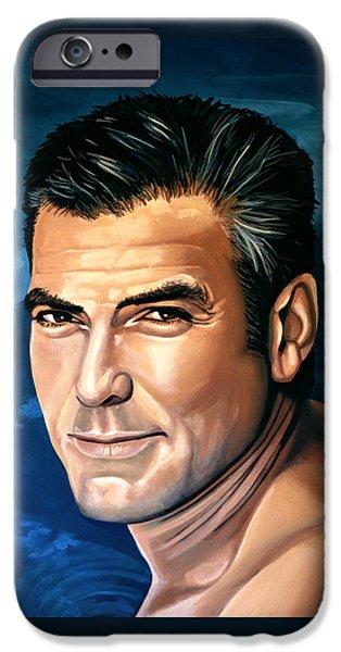 George Clooney 2 IPhone Case by Paul Meijering