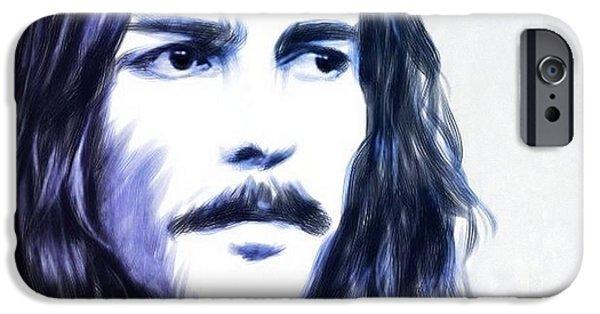 George Harrison Portrait IPhone Case by Wu Wei