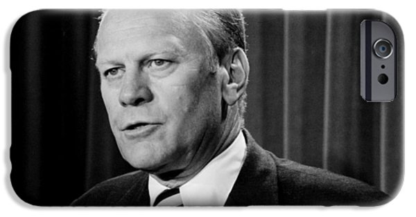 Gerald R Ford IPhone Case by Benjamin Yeager