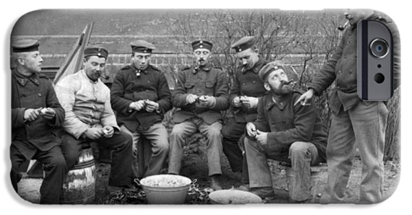 Germans Peeling Potatoes IPhone 6s Case by Underwood Archives