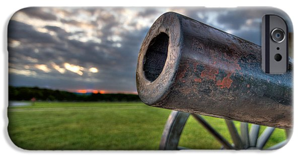Gettysburg Canon Closeup IPhone Case by Andres Leon