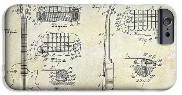 Gibson Les Paul Patent Drawing IPhone 6s Case by Jon Neidert