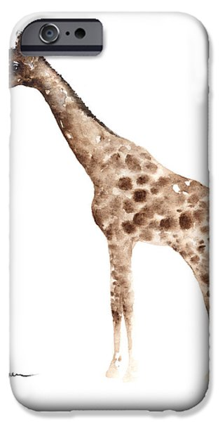 Giraffe Watercolor Art Print Painting African Animals Poster IPhone 6s Case by Joanna Szmerdt