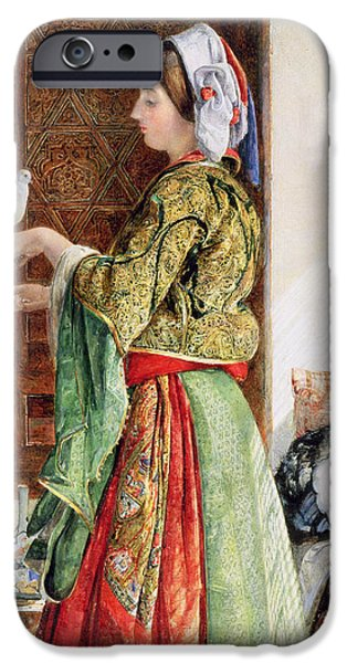 Girl With Two Caged Doves, Cairo, 1864 IPhone 6s Case by John Frederick Lewis
