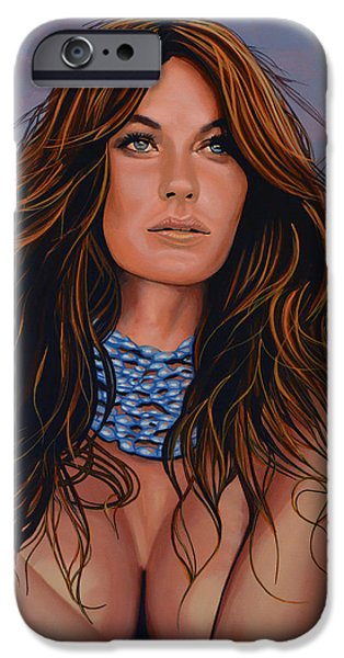 Gisele Bundchen Painting IPhone Case by Paul Meijering