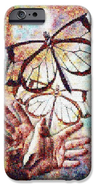 Giving Transforms The Giver IPhone Case by Robert Silvers Photomosaic from Anne Watson Composition