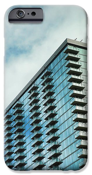 Glass Skyscraper Downtown Nashville Tennessee IPhone Case by Jai Johnson